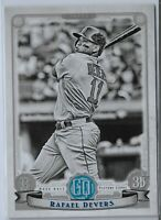 2019 Gypsy Queen Rafael Devers Black and white parallel Boston Red Sox /50