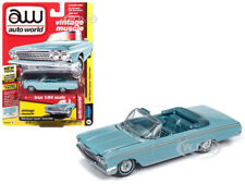 1962 CHEVROLET IMPALA OPEN CONVERTIBLE TURQUOISE 1/64 AUTOWORLD 64192/ AWSP014 B