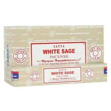 3 packs SATYA  Nag Champa White Sage Genuine Joss 15g Insence Sticks