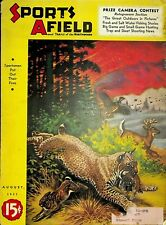 Vintage Sports Afield August 1937 Hunting Fishing Camping Sporting