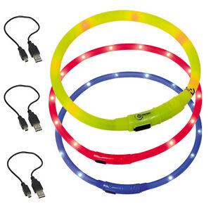 Leuchtschlauch LED USB Akku Leuchthalsband Sicherheit Hund Gepr. Top Qualität