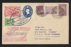 SCADTA +ZEPPELIN+ EXPRESO EL TOBON COLOMBIA AIR MAIL COVER 1931 RARITY