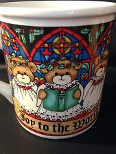 Lucy & Me Lucy Rigg Enesco Christmas Teddy Bear Coffee Mug Cup 25