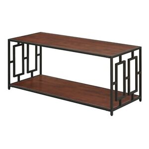 Convenience Concepts Town Square Metal Coffee Table, Cherry/Black - 167182CH