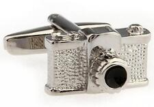 Camera Cufflinks Photographer Photo Groom Dad SLR Picture Wedding Fancy Gift Box