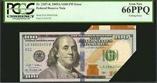 $100 2009A Frn Dallas Fr 2187-K Pcgs 66 Ppq - Cutting Error