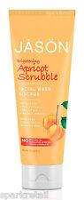 Jason Brightening APRICOT SCRUBBLE Face/Facial Wash & Scrub Polish/Cleanser 113g