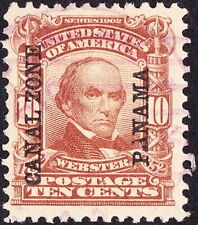 Canal Zone - 1904 - 10 Cents Pale Red Brown Daniel Webster Overprint # 8 F-VF +