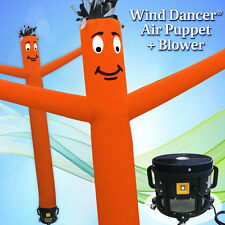 15' Orange Wind Dancer Air Puppet Sky Wavy Man Dancing Inflatable Tube + Blower
