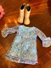 """American Girl 18"""" Doll Dress and Boots Outfit"""