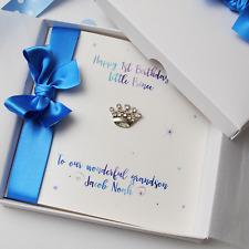 Luxury Boys 1st Birthday Personalised Handmade Boxed Card Son Grandson Nephew