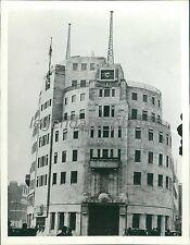 1941 British Broadcasting Building Damaged by Air Raid Original News Service Pho