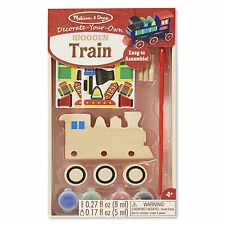 Melissa And Doug Decorate Your Own Wooden Train Craft Set NEW Toys Crafts