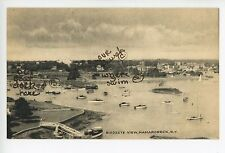"""Vintage MAMARONECK Postcard w Annotations """"Our Boat"""" ca. 1940s"""