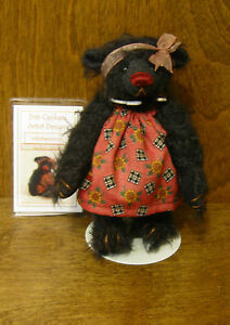 "DEB CANHAM Artist Designs ONYX, Inbetweenie Coll. 6"" LE mohair From Retail Store"