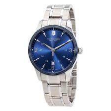 $525 VICTORINOX Swiss Army Mens BLUEDial Stainless Steel Swiss Watch 241711