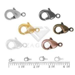 30g Karabinerverschluss Haken Steckverbinder Halskette 10/12/14/15mm Schmuck