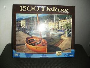 Mega Puzzles 1500 Piece Deluxe Puzzle: The Harbor at Gargnano