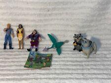 Lot of 6- Disney Pocahontas Burger King Kids Club 1995 WITH MANUAL Windup - A2