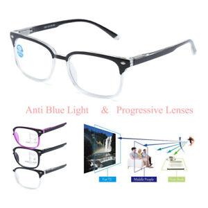 Progressive Reading Glasses Plastic Frame Multifocal Lenses +1.00 1.50 2.00 3.00