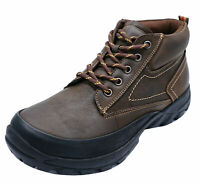 MENS BROWN LEATHER COTSWOLD LACE-UP HIKING TRAIL ANKLE BOOTS SHOES SIZES 6-12