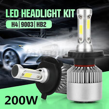 Car LED H4 9003 HB2 200W 20000LM Hi/Lo Dual Bulb Fog Driving Headlight Kit White
