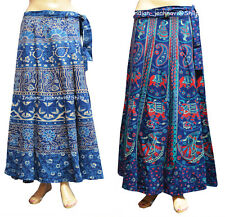 Set of 2 Women Ethnic Floral Rapron Around Skirt Print Cotton Long Skirt Wrap