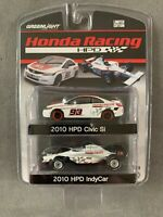 Greenlight 2010 HPD Honda Racing Civic Si and HPD IndyCar  LIMITED EDITION 1:64