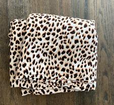 Victorias Secret PINK cheetah Leopard Flat sheet bedding Victoria VS Full Size