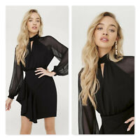 SHEIKE | Womens Black Ava Blouse NEW + TAGS RRP $109.95 [ Size AU 6 or US 2 ]