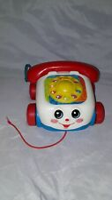 Vintage Fisher Price Year 2000 Telephone Pull Toy Rotary Phone On Wheels Kids
