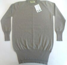 "Glen Oak Scotland Crew Neck 2 ply pure cashmere jumper pullover 38"" beige tall"