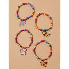 Pack of 4 Beaded Bracelets Childrens Jewellery Stocking Fillers Christmas