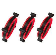 Apevia 312L-CRD 120mm Red LED Case Fan w/ Anti-Vibration Rubber Pads (3-pk)