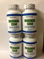 Moringa Oleifer 4 Bottles 1350 mg/Serving Natural Superfood energy Free shipping