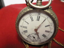 Pocket watch antique with chain 43cm running, E311