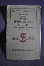 Ca 1948 Singer Sewing Machine 15K88 Central Bobbin, Reverse Feed for Family Use