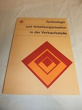 DDR reference Book Textbook technology and work organization in the shop