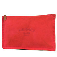 Sale! Auth HERMES Trousse Yachting Flat GM Pouch Clutch Bag 7074bkac