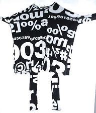 NEU!! Mega-Kleid Tunika Schwarz-Weiss Baumwolle  M L XL XXL XXXL