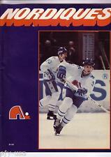 New England Whalers WHA Quebec Nordiques 1979 Hockey Program [P04]