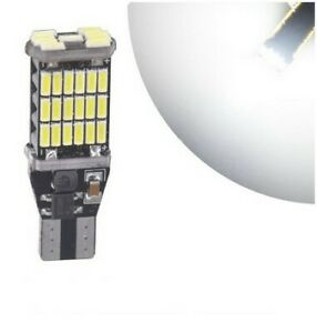 1x T15 Ampoule W16W 45 LED smd Blanc 6000K Feux de recul Veilleuse freins Canbus