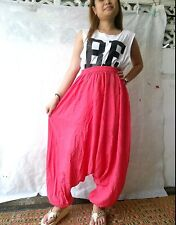 Pink 007 Harem Pants Lady Gypsy Hippie Boho P Thai Jumpsuit Yoga Tourver Genie