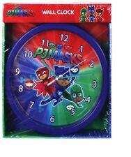 PJ MASKS CHILDRENS KIDS MY FIRST 24cm WALL CLOCK WITH GEKKO CATBOY & OWLETTE