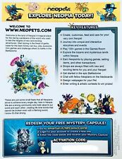 Neopets - SDCC 2018 Mystery Capsule Code
