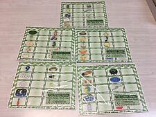 The Green Series - Complete Vowel Set - Laminated Mats And Card Sets Montessori