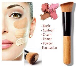 Flat Top Kabuki Foundation Brush Liquid Powder Blusher Buffing Make Up Brush UK