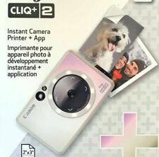 Canon Ivy Cliq + 2 Instant Film Camera + Photo Printer Iridescent White