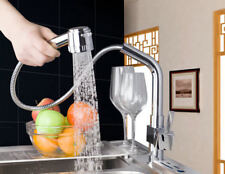 Chrome Kitchen Filler Faucet 360° Swivel Sink Deck Mounted Hand Spout Mixer Taps