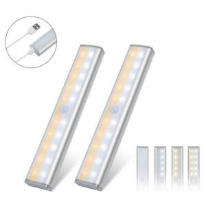 20LED USB Rechargeable PIR Motion Sensor LED Cabinet Closet Light Lamp Portable